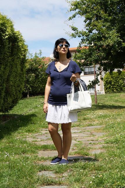 Look de embarazada con Kimono