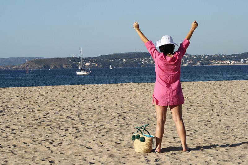 Embarazada en la playa!