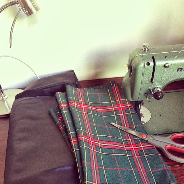Homemade Tartan Skirt
