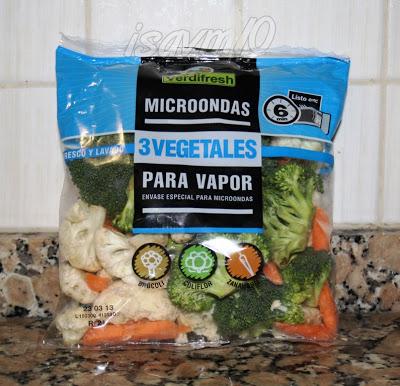 Hoy ceno *Verduras al Vapor*