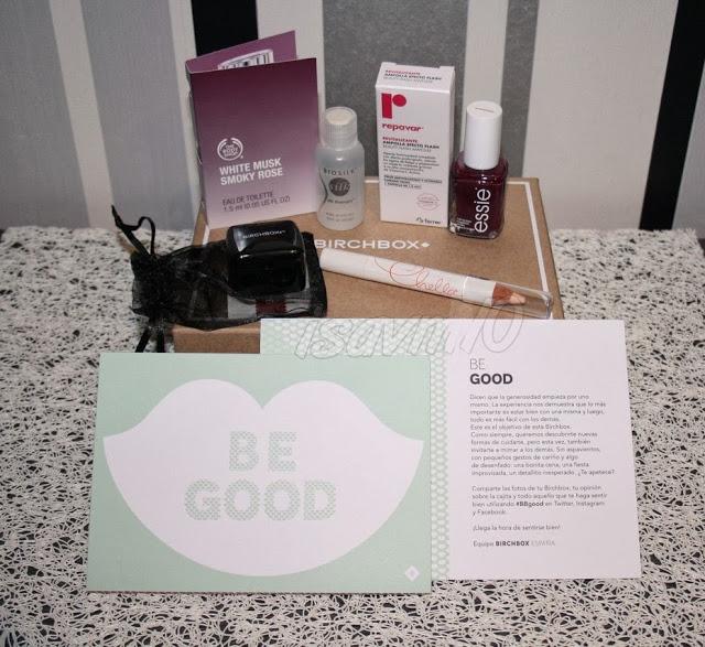 *BE GOOD* –> Birchbox Noviembre'13
