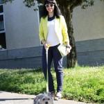 LOOK: blazer amarilla