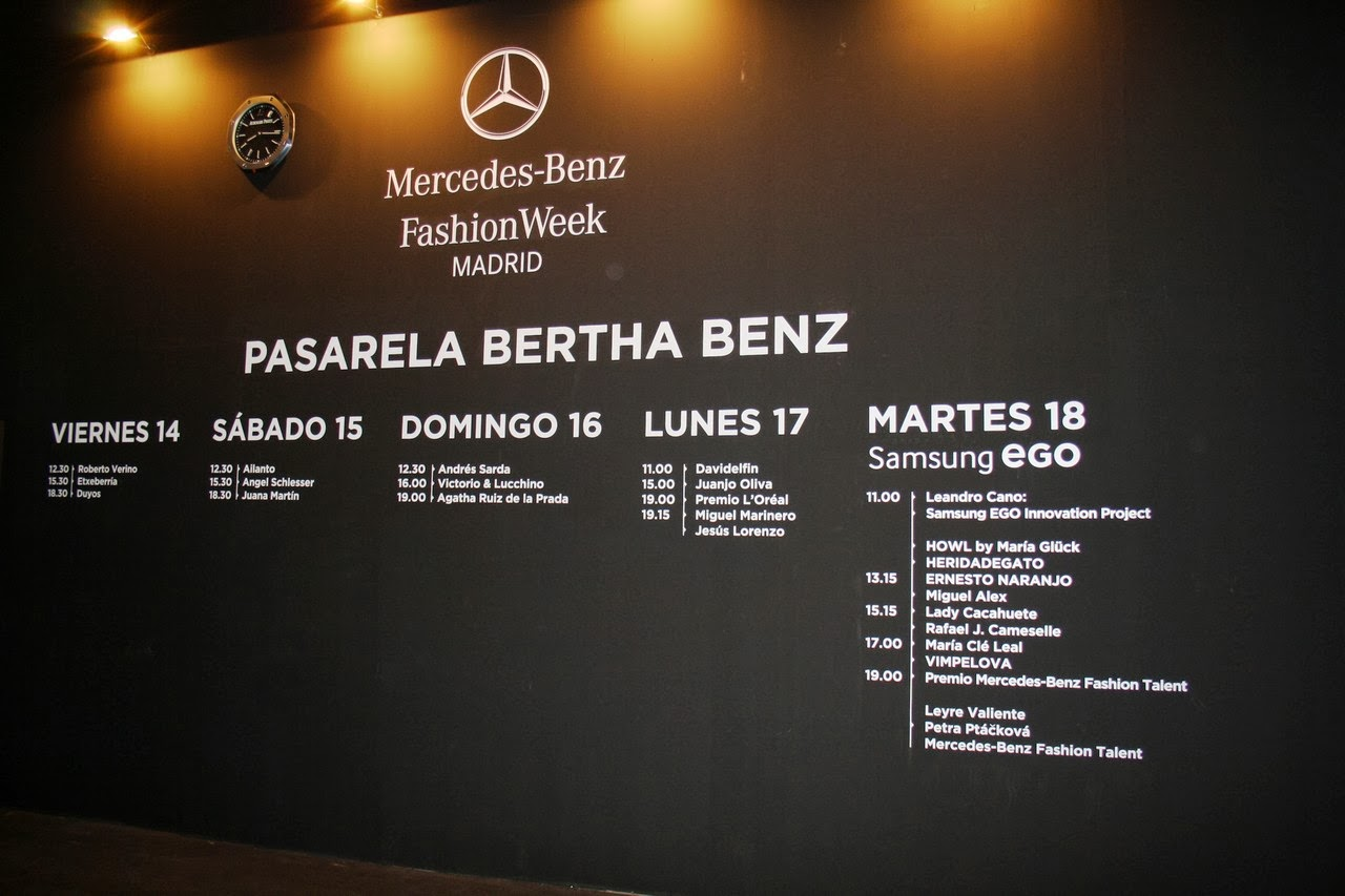 Mercedes-Benz Fashion Week MADRID, Febrero 2014
