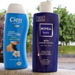 Cremas Corporales: Nivea Body Milk y Cien Leche Corporal
